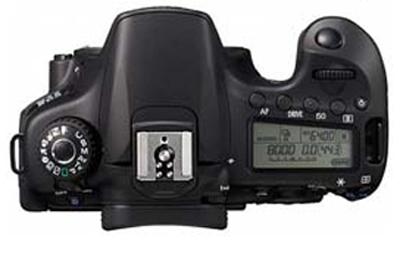 Bovenaanzicht Canon EOS 60D